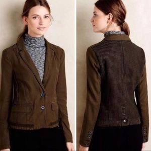 Hei Hei Anthropologie Green Utlity Jacket Blazer